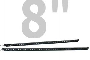 PlasmaGlow 8″ Fire and Ice LED Mud Flap Bars (BARS ONLY)