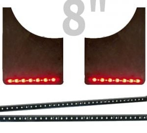 PlasmaGlow 8″ Fire and Ice LED Mud Flap Bars (WITH MUDFLAP)