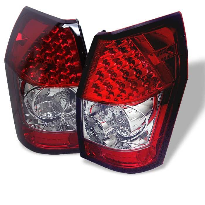 05-08 Dodge Magnum LED Altezza Tail Lights - Red Clear