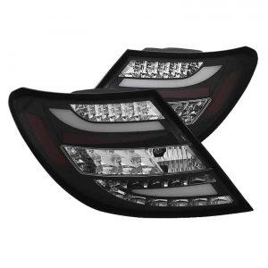 2011-2012 Mercedes Benz C-Class (W204) LED Tail Lights – Black