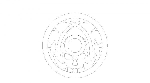 Full Custom Billet Steering Wheel – Tribal Skull