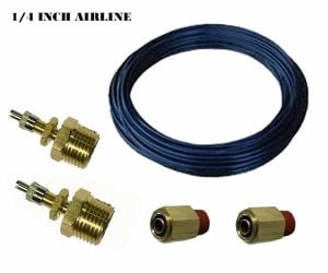 Single Axle Independent Manual Fill Kit (Schrader Valves, Air Line, Fittings) – 2 Air Spring Fill Kit