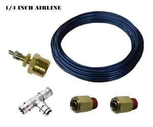 Single Axle Combined Manual Fill Kit (Schrader Valves, Air Line, Fittings) – 2 Air Spring Fill Kit