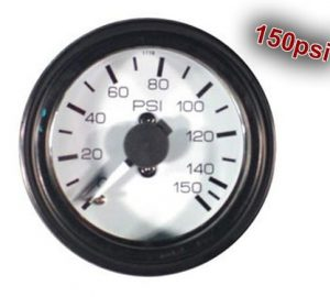 "Dual Analog Pressure Gauge ""Gauge Only, No Fittings"" – 150psi"