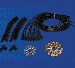7mm Black 180 Degree Universal Cloth Wrapped Spark Plug Kit