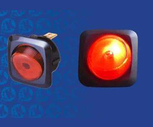 Illuminated Rocker Switch 5 – Red 5a/12v