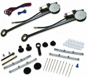 2-Door Universal Curved Power Window Kit (No Switches)