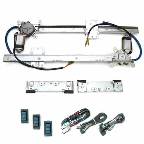 2-Door Universal Flat Power Window Kit (with 3 switches and wiring)