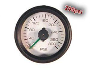 """Dual Analog Pressure Gauge """"Gauge Only, No Fittings"""" – 200psi"""