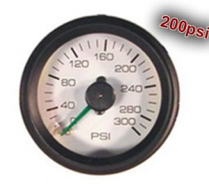 "Dual Analog Pressure Gauge ""Gauge Only, No Fittings"" – 200psi"