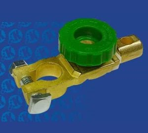 Direct Mount Battery Terminal with Green Knob