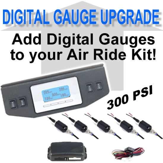 Digital Air Bag Pressure Gauge 5-Zone, 300psi **UPGRADE**