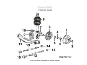 1992-1999 Ford E150 Front Air Suspension Kit, I-Beam/Bracket Kit (no fittings)