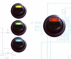 Lever Style LED Round Frame Switch – Red 20a/12vdc
