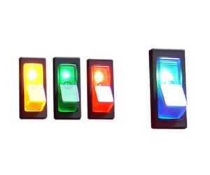 Illuminated Rocker Switch 1 – Blue 20a/12v