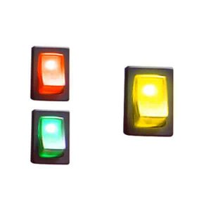 Illuminated Rocker Switch 2 – Yellow 16a/12vdc