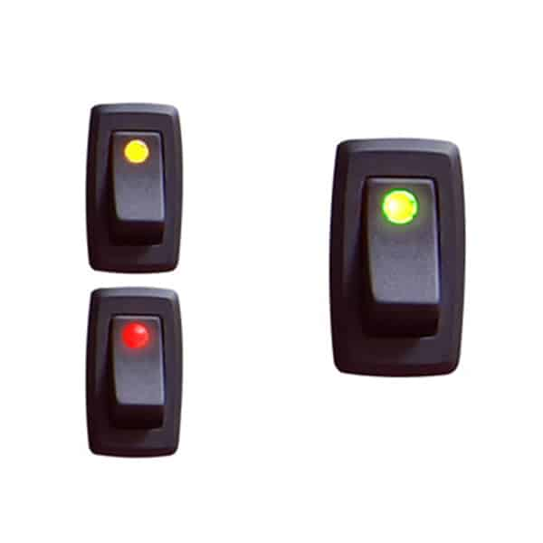 Illuminated Rocker Switch 3 With Led - Green 16a/12vdc