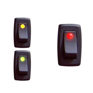Illuminated Rocker Switch 3 With Led – Red 16a/12vdc