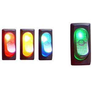 Illuminated Rocker Switch 4 – Green 25a/12v
