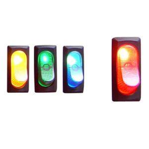 Illuminated Rocker Switch 4 – Red 25a/12v