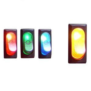 Illuminated Rocker Switch 4 – Yellow 25a/12v