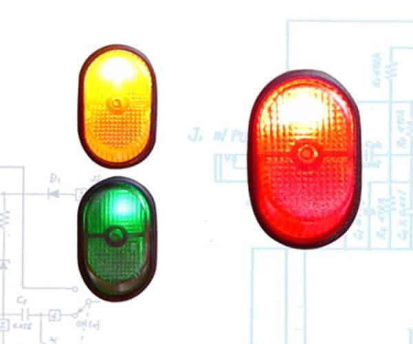 Illuminated Rocker Switch 7 - Red 30a/12v