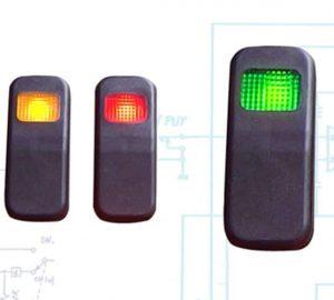 Illuminated Rocker Switch 8 With Led – Green 21a/14v