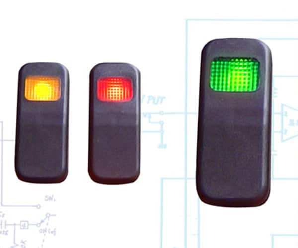 Illuminated Rocker Switch 8 With Led - Green 21a/14v