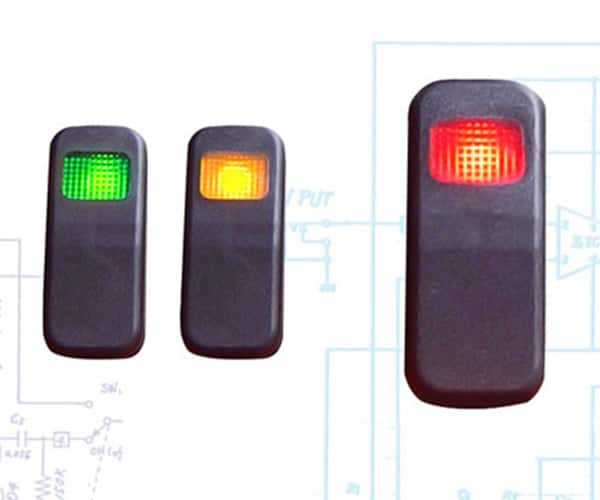 Illuminated Rocker Switch 8 With Led - Red 21a/14v
