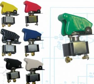 Race Toggle Switch With Safety Cover – Green