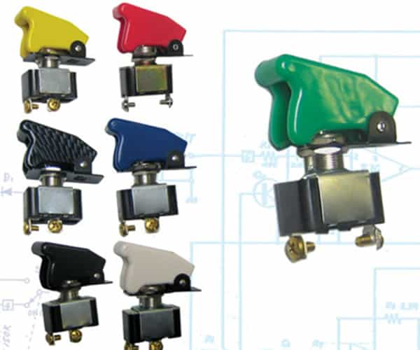 Race Toggle Switch With Safety Cover - Green