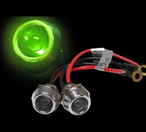 5mm 12V GREEN LED Billet Indicator Light