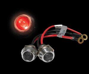 5mm 12V RED LED Billet Indicator Light