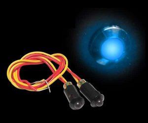 5mm 12V BLUE LED Plastic Body Indicator Light