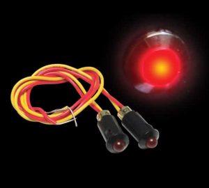 5mm 12V RED LED Plastic Body Indicator Light