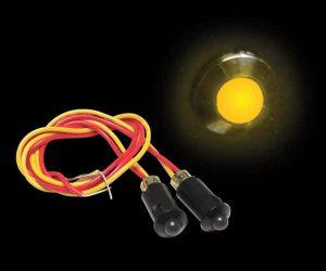 5mm 12V YELLOW LED Plastic Body Indicator Light