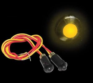 5mm 12V YELLOW LED Plastic Body Indicator Light