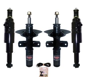 1997-1999 Cadillac DeVille 4Wheel Electronic to Passive Suspension Conversion with Front Gas Shocks & Rear Air Shocks Kit