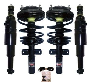 1997-1999 Cadillac DeVille 4Wheel Electronic to Passive Suspension Conversion with Front Coil Over Struts & Rear Air Shocks Kit