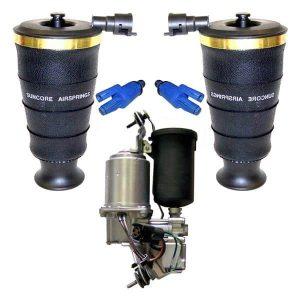 1998-2002 Lincoln Town Car Rear Air Ride Suspension Air Spring Bags & Compressor Kit