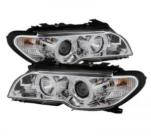 2004-2006 BMW E46 3-Series 2DR LED Halo Projector Headlight (Halogen Model Only – Not Compatible With Xenon/HID) – Chrome