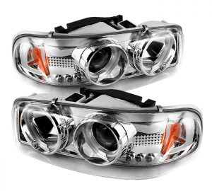 2001-2006 GMC Yukon Denali XL/SLT, Sierra CCFL LED Projector Headlights (Replaceable LEDs) – Chrome