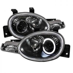 1995-1999 Dodge Neon Halo LED Projector Headlights (Replaceable LEDs) – Black