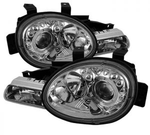 1995-1999 Dodge Neon Halo LED Projector Headlights (Replaceable LED's) – Chrome