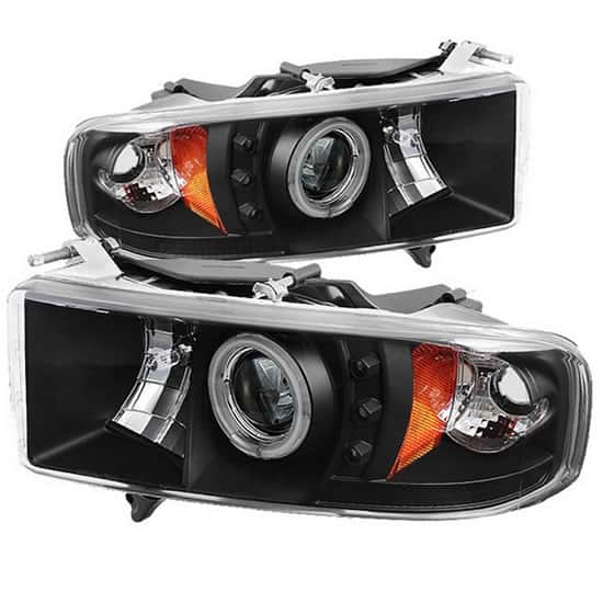 1999 2002 Dodge Ram 1500 2500 3500 Ccfl Halo Led Projector Headlights