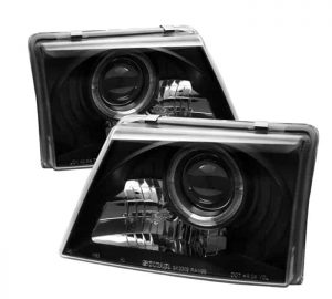 1998-2000 Ford Ranger LED Halo Projector Headlights – Black