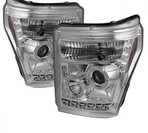 2011-2015 Ford Super Duty CCFL DRL Halo Projector Headlights – Chrome