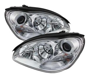 2000-2006 Mercedes Benz W220 S-Class (Non HID Type) Projector Headlights – Chrome