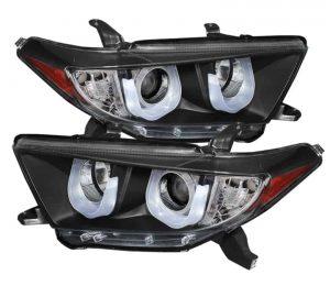 2011-2013 Toyota Highlander 3D DRL Projector Headlights – Black