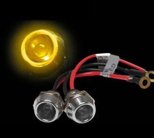 5mm 12V YELLOW LED Billet Indicator Light